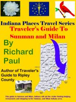 Cover for 'Travelers Guide To Sunman and Milan'