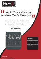 Cover for 'How to Plan and Manage Your New Year's Resolutions'