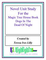 Cover for 'Novel Unit Study for the Magic Tree House Book  Dogs in the Dead of Night'