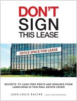 Cover for 'Don't sign this lease - 30 first pages FREE'