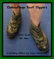 Cover for 'Camouflage Boot Slippers Dorm Boots for Men Knitting Pattern'