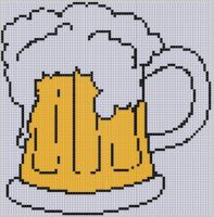 Cover for 'Beer Stein Cross Stitch Pattern'