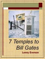 Cover for '7 Temples to Bill Gates'