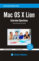 Cover for 'Mac OS X Lion Interview Questions You'll Most Likely Be Asked'