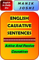 Cover for 'English Causative Sentences'