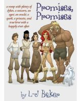 Cover for 'Promises, Promises: a romp with plenty of dykes, a unicorn, an ogre, an oracle, a quest, a princess, and true love with a happily ever after'