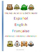Cover for 'Trilingual Visual Dictionary. Animals in Spanish, English and French.'