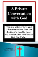 Cover for 'A Private Conversation with God'