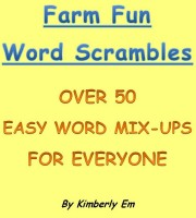 Cover for 'Farm Fun Word Scramble - Over 50 Word Puzzles'