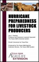 Cover for 'Hurricane Preparedness for Livestock Producers'