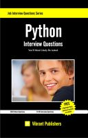 Cover for 'Python Interview Questions You'll Most Likely Be Asked'