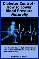 Cover for 'Diabetes Control-How to Lower Blood Pressure Naturally'