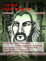 Cover for 'Canadian Freethinker: Winter Solstice Issue 2012'