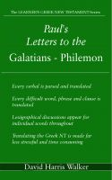 Cover for 'Paul's Letters to the Galatians - Philemon'