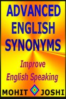 Cover for 'Advanced English Synonyms'