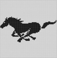 Cover for 'Running Horse Cross Stitch Pattern'