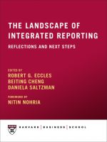 Cover for 'The Landscape of Integrated Reporting: Reflections and Next Steps'