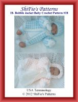 Cover for '18  Bobble Twin Jacket Baby Crochet Pattern #18'