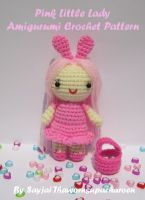 Cover for 'Pink Little Lady Amigurumi Crochet Pattern'