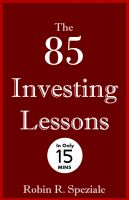 Cover for 'The 85 Investing Lessons'