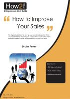 Cover for 'How to Improve Your Sales'