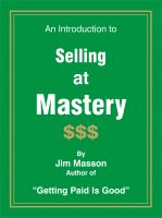 Cover for 'An Introduction to Selling at Mastery'