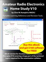 Cover for 'Amateur Radio Electronics V10 Home Study'