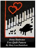 Cover for 'Ivory Staircase - Free Quilt Pattern'