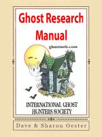Cover for 'Ghost Research Manual'