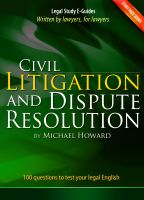 Michael Howard - Civil Litigation and Dispute Resolution - Study Pack Series