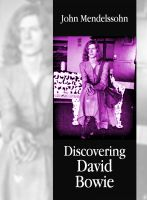 Cover for 'Discovering David Bowie'