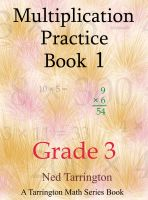 Cover for 'Multiplication Practice Book 1, Grade 3'