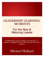 Cover for 'Leadership Learning Moments for the New & Maturing Leader'