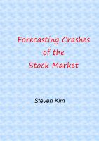 Cover for 'Forecasting Crashes of the Stock Market'