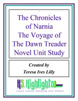 Cover for 'The Chronicles of Narnia The Voyage of the Dawn Treader Novel Unit Study'