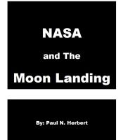 Cover for 'NASA and The Moon Landing'