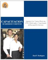 Cover for 'Capacitación De Meseros y Servicio'