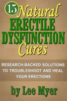 Cover for '15 Natural Erectile Dysfunction Cures'