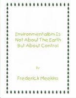 Cover for 'Environmentalism Not About the Earth But About Control'