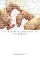 Cover for 'On the Origin and Abolishment of Low Back Pain'