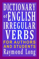Cover for 'Dictionary of English Irregular Verbs'