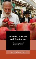 Cover for 'Judaism, Markets, and Capitalism: Separating Myth from Reality'