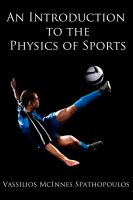 Cover for 'An Introduction to the Physics of Sports'