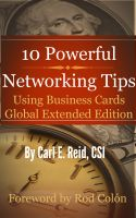Cover for '10 Powerful Networking Tips Using Business Cards Global Extended Edition'
