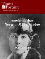 Cover for 'Amelia Earhart: Never in Man's Shadow'