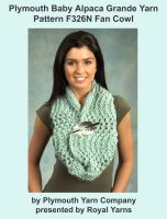 Cover for 'Plymouth Baby Alpaca Grande Yarn Knitting Pattern F326N Fan Cowl'