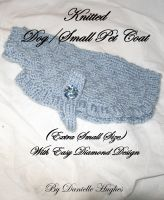 Cover for 'Knitted Dog/Small Pet Coat  (Extra Small Size) With Easy Diamond Design'