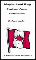 SilverTonalities Sheet Music Services - Maple Leaf Rag Beginner Piano Sheet Music