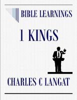 Cover for 'Bible Learnings 1 KINGS'