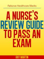 Cover for 'A Nurse's Review Guide to Pass an Exam'